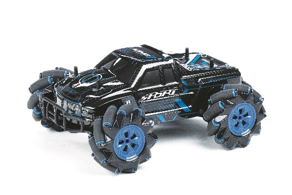 Stunt Car R/C 1:16 2,4GHz light/music, blue