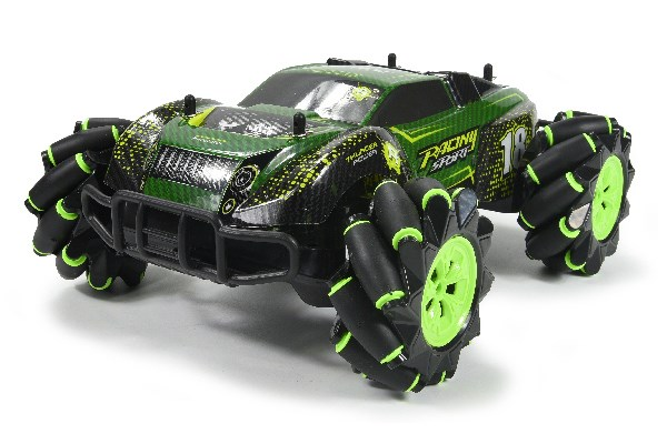 Stunt Car R/C 1:16 2,4GHz light/music, green