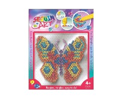 Sequin Art Easy Butterfly 17x17cm