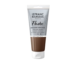 FLASHE ACRYLIC 80ML TUBE BURNT UMBER